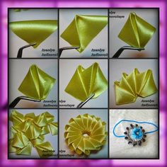 How to make elegant organza kanzashi flower with dangles usefuldiy com – ArtofitIt is a website for handmade creations with free patterns for croshet and knitting in many techniques designs – ArtofitThis Pin was discovered by Nig - SalvabraniGorg Diy Ribbon Flowers, Ribbon Flower Tutorial, Cloth Flowers, Kanzashi Flowers, Ribbon Art, Fabric Ribbon, Ribbon Crafts, Flower Crafts, Fabric Flowers