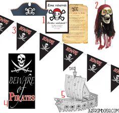 Comment préparer une Fête Pirate : Sélection Shopping déco de salle | Ju2Framboise.com