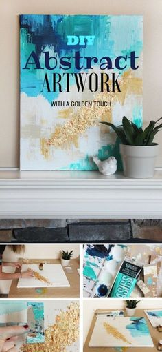 Check out the tutorial: #DIY Abstract Art @istandarddesign