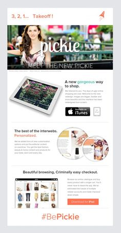 Pickie Launch Email » Beautiful Email Newsletters