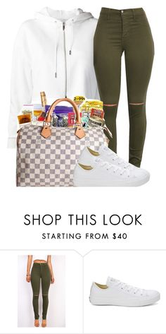 """Outfit #428 (Olive Green)"" by whatevas ❤ liked on Polyvore featuring Converse"