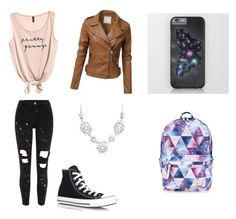 """Random school day"" by maddierosecarter on Polyvore featuring River Island, Converse and Accessorize"