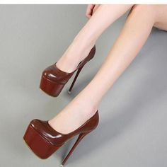 455e243f5ab5 Round Toe Platform Super High Stiletto High Party Club Shoes  Highheelboots  Hot High Heels