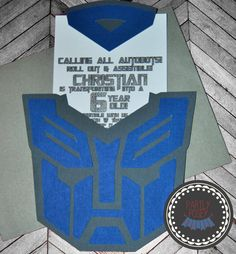 Transformers Birthday Party Invitation by partlyposeyparties