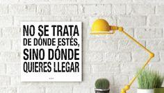 Queremos inspirarte para que la decoración de tu hogar sea única. #BastidorDeMadera #Letras #Quotes #Decoración