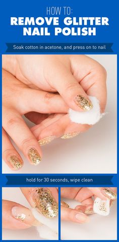2 Tricks For Removing Glitter Nail Polish