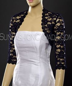 This sleeve lace bolero jacket made of delicate bridal lace. This is one of our original boleros and it was designed especially to look gorgeous with your wedding dress. Lace Bolero Jacket, Lace Shrug, Dress Neck Designs, Blouse Designs, Shrug For Dresses, Scarf Dress, Elegant Outfit, Bridal Lace, Skirt Fashion