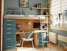 Bought a full size bed/desk similar to this one (minus all the awesome drawer space on the left-hand side of this one!) for our son a few years ago... and it would be GREAT - SOo stupendously GREAT.. IF our ceilings were, oh, say... 3-4' HIGHER! Measure before you buy, folks. He still fits up there okay - for now - but is also currently growing like, WHOA.