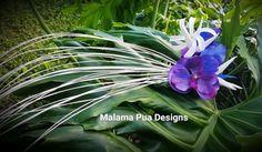 HAWAIIAN or TAHITIAN HEADPIECE Tropical Hair clip by MalamaPua
