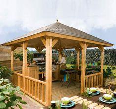 Lugarde Gartenlaube Hawai VH01 mit Pyramidendach. Freistehende Gartenlaube in Top Qualität zu fairen Preisen. Jetzt selbst von Lugarde überzeugen!