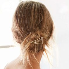 This hair pin dresses up any hair style; sleek or casual.