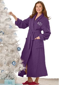 I would love a super comfy robe, monogrammed