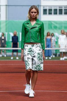 Leather jacket & shorts as seen at the Ganni Spring / Summer 2015 presentation during Copenhagen Fashion Week.