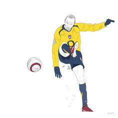 Thierry Henry / Arsenal Football Art, Football Players, Thierry Henry Arsenal, Soccer Photography, Arsenal Fc, Soccer Ball, Caricature, Champs, Ronald Mcdonald