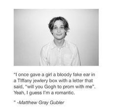 Matthew Gray Gubler, you funny man.