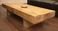 Oak Sleeper Coffee Table | Buy Tables Tables Online | UK Stoves