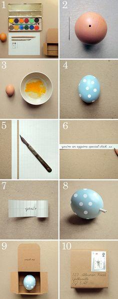 huevos con mensaje