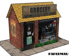 Paperized: Grocery Shop Paper Model
