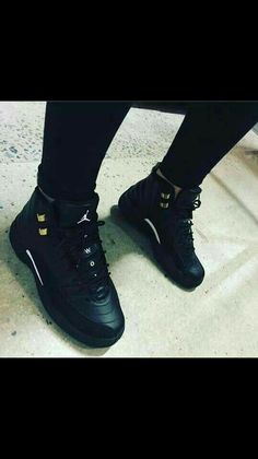 d09fcc09435f64 All black jordan 12 Jordan Shoes Girls