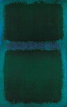 dailyrothko: Mark Rothko, blue green blue, 1961