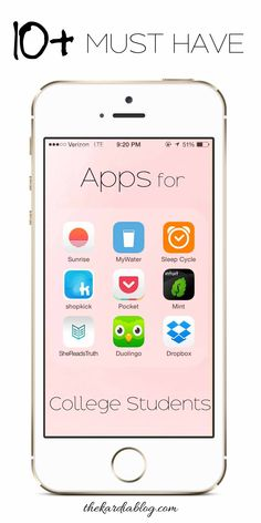 10 Must Have Apps for College Students! Save time by being productive and…