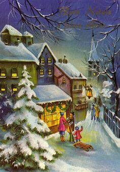 Miss Jane - Vintage Christmas Card