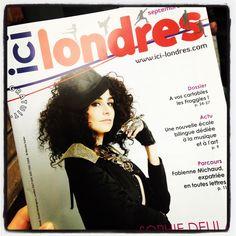Je suis à la une du dernier numéro du magazine Ici Londres !  http://www.ici-londres.com