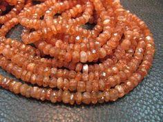 Full 13 Inch strand Sunny SUNSTONE Micro Faceted Rondelle beads by Sunrisegemstone on Etsy https://www.etsy.com/listing/178929423/full-13-inch-strand-sunny-sunstone-micro