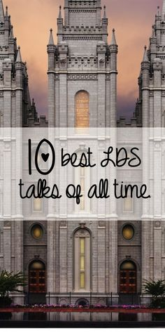 10 best LDS talks of all time! Wonderful list to add to your own personal scripture study. Lds Mormon, Book Of Mormon, John Maxwell, Lds Church, Church Ideas, Church Of Jesus Christ, Lds Talks, Lds Faith, Leadership