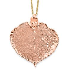 Quality Gold Aspen Leaf, Gold Dipped, Gold Plated Necklace, Jewelry Trends, Plating, Rose Gold