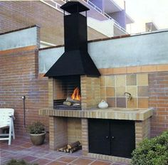 Amazing Outdoor Patio Barbecue Grill Ideas: Do you think that having a piece of BBQ stand in your house garden will bring a source of thrilling entertainment in the nightlife gatherings. Outdoor Decor, Grill Design, Outdoor Kitchen Design, Outdoor Fireplace, Patio Remodel, Outdoor Kitchen, Outdoor Living, Barbecue Design