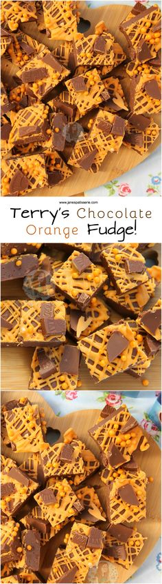 Terry's Chocolate Orange Fudge!! ❤️ Easy, Delicious, and oh so Chocolatey.. Terry's Chocolate Orange Fudge that is SO easy to make you'll be making it again and again.