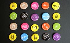 Visual identity for Museomix, the first international cultural makeathon that mixes skills and insights! Visual Identity, Brand Identity, Logo Branding, Branding Design, Branding Ideas, Saag, Creations, Badges, Behance