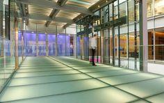 Матовый стеклянный пол с подсветкой Sportswear Store, Glass Floor, Store Design, This Is Us, Stairs, Flooring, Architecture, Projects, Exhibit Design