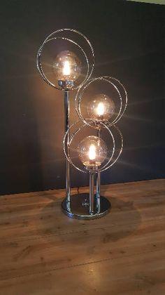Vintage Mid Century Modern Chrome Graduated 5 Globe Bulb