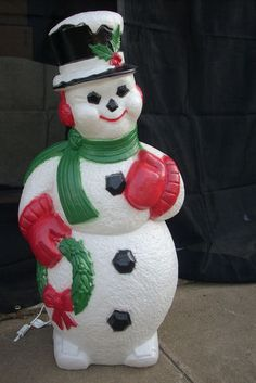 Blow Mold Yard Light Up Decoration Snowman 41 Quot Christmas