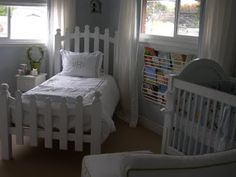 white picket fence bed