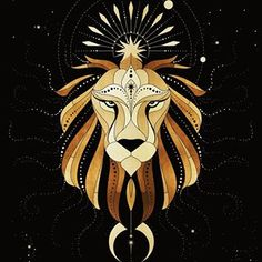 Leos are known for their sense of pride and leadership. They regal, majestic, ruled by the Sun and linked with the element of fire, they… Egypt Concept Art, Snake Art, Zodiac Art, Graphic Design Print, Fractal Art, Artist Art, Dark Art, New Art, Fantasy Art