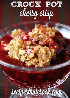 Crock Pot Cherry Crisp - Recipes That Crock!