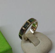 Vintage Ringe - 925er Silberring mit Abalone-Muschel 17,2 mm SR527 - ein Designerstück von Atelier-Regina bei DaWanda