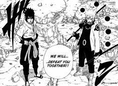 Naruto 673 - Page 16 - Uchiha Sasuke and Uzumaki Naruto confronting rezzed Uchiha Madara GOTTA LOVE THE SPIRIT OF MA BOYZ