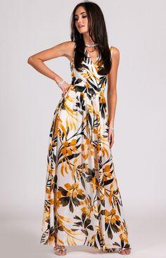 89ccee618d Kwiatowa sukienka maxi D24 - MODA DAMSKA - Sklep internetowy