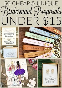 50 Cheap and Unique Bridesmaid Proposals Under 15 for inviting your family and friends to join your Bridal Party Asking Bridesmaids, Bridesmaid Gift Boxes, Wedding Gifts For Bridesmaids, Bridesmaids And Groomsmen, Gifts For Wedding Party, Be My Bridesmaid, Party Gifts, Bridal Parties, Ask Bridesmaids To Be In Wedding