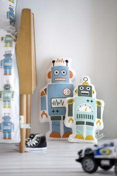 Cool robot pillows for a boy's room