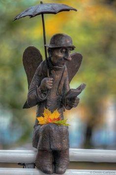 A statue of angel, Izmailovsky garden (Saint Petersburg) Outdoor Sculpture, Sculpture Art, Garden Sculpture, Autumn Tale, Greek Statues, Angel Art, Autumn Leaves, Autumn Harvest, Beautiful World