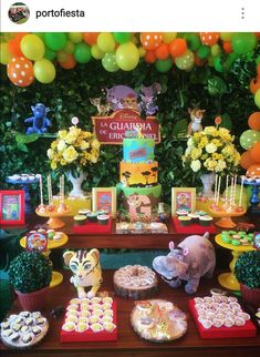 Lion Guard Theme Birthday Party Dessert Table and Decor