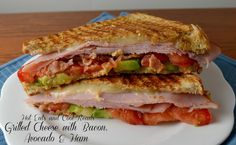 Grilled Cheese Sandwich with Bacon, Avocado & Ham from Hot Eats and Cool Reads