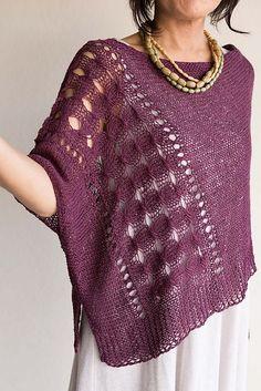 DanDoh Cotton Fine Oasis Poncho PDF Knitting Pattern