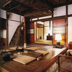 Traditional Japanese hearth room. I love it!