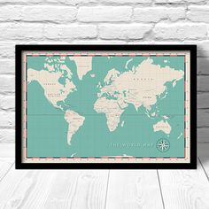 1911 vintage world map eastern and western hemispheres stieler modern world map political world map travel map for home decor hip art map print world capitals map gumiabroncs Choice Image